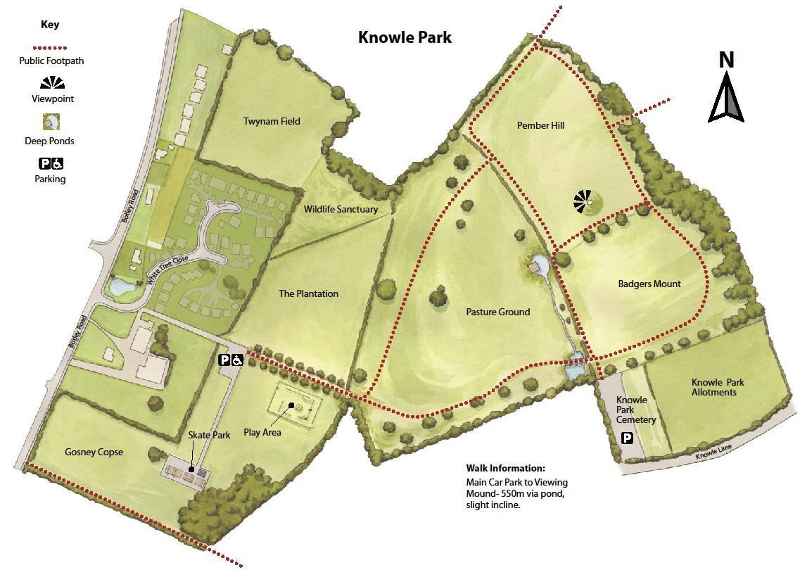 Map of Knowle Park, Fair Oak