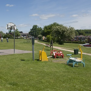 Fair Oak: New Century Park. June 2013  Including little girl walking and with white dog. Girl is model-released. She is Lucy Sherbourne, aged 6.  (Mother is Marie Sherbourne 02380 601132 moneypennie@talktalk.net)  June 2013   Pic: Chris Balcombe