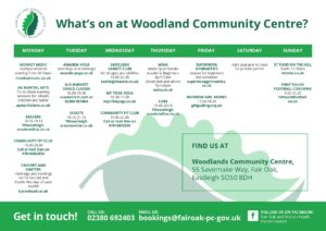 What's on at Woodland Community Hall?